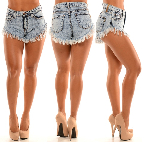Fashion Nova - Mid Rise Shorts W Super Frayed Bottom
