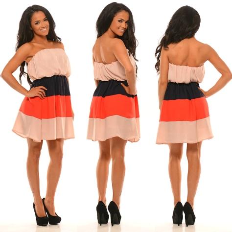 Fashion Nova - Napoleon Color Block Dress